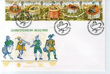 First Day Cover - 1995 SHAKESPEAREAN MUSICIANS Unaddressed - Barbican London