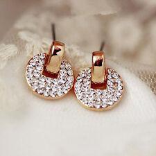 1 Pair Fashion Women Lady Elegant Crystal Rhinestone Ear Stud Earrings Jewelry