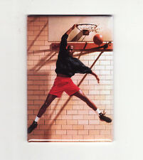 MICHAEL JORDAN / GYM DUNK - FRIDGE MAGNET (costacos poster chicago nike air)