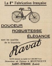 Y8079 Biciclette RAVAT - Pubblicità d'epoca - 1922 Old advertising