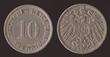 GERMANIA GERMANY 10 PFENNIG 1906 G