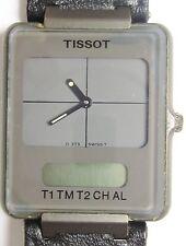 Tissot twotimer analogique/digil ss quartz D375660G0P montre prof service 6mth wrrnty