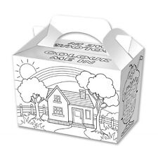 10 Colouring In Party Boxes - Food Loot Lunch Cardboard Gift