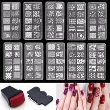 HOT 1 Set Nail Art Polish Manicure Image Stamping Plate Template&Stamper&Scraper