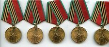 5 World War Two Genuine Russian Convoy Medals