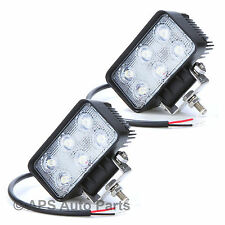 2x 18W 6 LED Work Light Lamp Bar Flood Beam Jeep Tractor Truck Bright 12v 24v CE