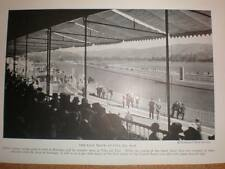 Chile Vina Del Mar horse race track 1929 printed photograph