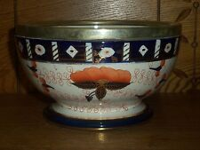 Antique Gaudy Bowl - Marked With Crown