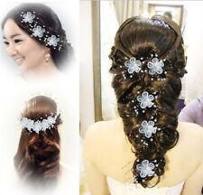 Accessoires Pour Cheveux Mariage Mariée Bibi Clip Fleur Panicules De Perle