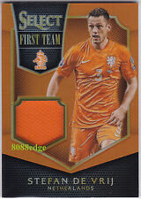 2015-16 SELECT SOCCER PLAYER-WORN SWATCH: STEFAN DE VRIJ #/149 NETHERLANDS/LAZIO