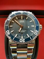 73376534155MB Oris Aquis Date Blue Dial Stainless Steel Men's Watch