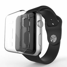 2PACK Cystal Clear Slim Hard Snap On Protector Case Cover Fits Apple Watch 42MM