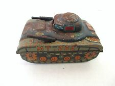 Vintage Unknown Maker MT-284 Tin Toy Tank Parts or Repair