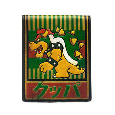 NINTENDO'S SUPER MARIO BRO'S BROWSER KANJI GREEN BI-FOLD WALLET *BRAND NEW*