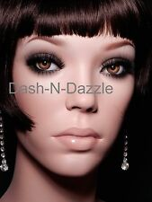 Female mannequin wig bust HAZEL  GLASS EYES!