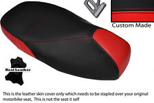 RED & BLACK CUSTOM FITS PIAGGIO VESPA 125 GT 1 GTS 250 300 DUAL SEAT COVER