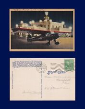 US OHIO NIGHT SCENE MUNICIPAL AIRPORT CLEVELAND POSTED JULY 31 1945 TO MANSFIELD