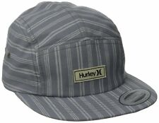 ~NEW~ MENS HURLEY wharf CLASSIC HAT CAP GREY STRIPED