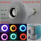 Wireless 12W Power E27 LED rgb Bluetooth Speaker Bulb Light Lamp Music Playing