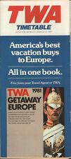 TWA system timetable 3/1/81 [308TW] Buy 2 Get 1 Free