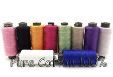 10 Sewing All Purpose 100% Pure Cotton Spools Colours Reels All Purpose Threads
