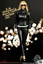 1/6 Figure Accessories Women's Black Leather Jacket sets MC-F062