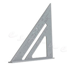 Alloy Speed Square Protractor Miter Framing Measurement Ruler For Carpenter 7""
