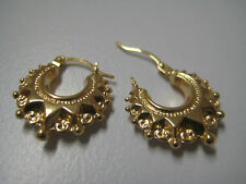 9ct yellow gold fancy creole huggie hoop earrings NOW ON PRICE DROP!!