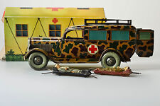 #Antique Tin Toy#  Tippco Hausser Military Ambulance Truck Germany Werhmacht Box