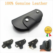 Genuine Leather Remote Smart Key  Protective Holder Fob Case Cover for Audi VW