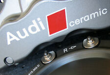 AUDI Ceramic Premium Brake Caliper Decals Stickers RS4 RS5 RS6 RS7 R8 Calliper