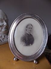 Large Lovely Antique Victorian Solid Silver 875 Photo Frame.