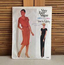 Vintage 70s VOGUE American DESIGNER Diane Von Furstenberg 2333 Dress PATTERN 14