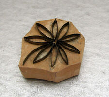 Hungarian hand crafted METAL FILAMENT DAISY wood base EMBROIDERY STAMPER Hungary