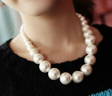 New Ladies Occident Style Korean Fashion Big Pearl Elegance Clavicle Necklace