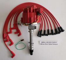 CORVETTE TACH DRIVE HEI Distributor & RED SPARK PLUG WIRES Over Valve Covers USA