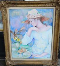 $9000 RARE IMPORTANT LRG ORIG PAINTING FROM JEAN MARIE GALLERY BY JACQUES BOERI!