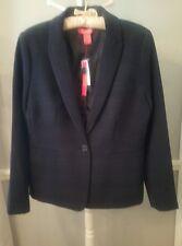 Catherine Malandrino ladies M navy glen plaid short blazer jacket NWT $118