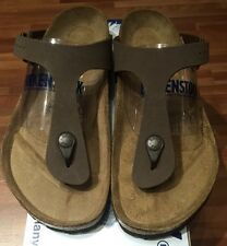 Birkenstock Gizeh 043751 Size 39 L8M6 R Birkibuc Mocha Thong Sandals