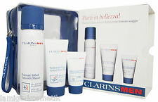 CLARINS MEN Smooth Shave 50ml Active Face Wash 30ml Super Moisture Balm 12ml Set