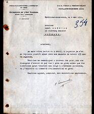 """PAVILLONS-sous-BOIS (93) PRODUITS ALIMENTAIRES & d'ENTRETIEN """"Ets LAMOUCHE"""" 1931"""