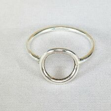 Nice Round Circle Band white 925 Sterling Silver Ring Woman Chic Fashion jewelly