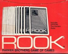 Vintage Rook with Official Tournament Rules Parker Brothers Game of Games 1972