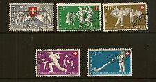 SWITZERLAND :1951 National Fete set SG 527-31 fine used