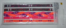5 Pk Under Armour Multi-Colored MINI & Braided UA Graphics Headbands Sz OS **