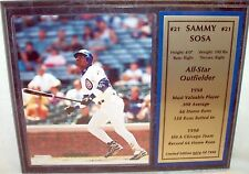"Sammy Sosa Color Photo Plaque 12"" X 15"" Limited Edition 74 of 1998"