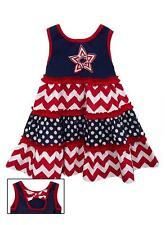 New Girls Rare Editions sz 18m Navy Red STAR Dress 4th of July Clothes Summer