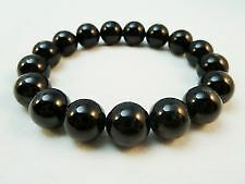 Natural Black Tourmaline Bracelet 12mm +++++AAAAA quality