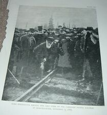 1920s Print LORD STRATHCONA DRIVING LAST SPIKE CANADIAN PACIFIC RAILWAY Plate