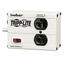 TRIPP LITE IBAR2-6 Isobar Surge Suppressor, 15A, 2 Outlet 6 ft White 1410 Joules